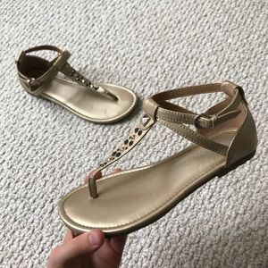 Gold studded sandals